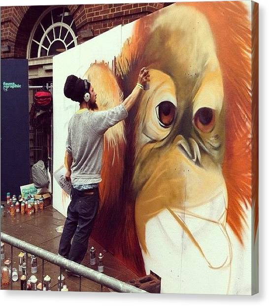 Orangutans Canvas Print - Masat#masat Skills #seenoevil2011 by Nigel Brown