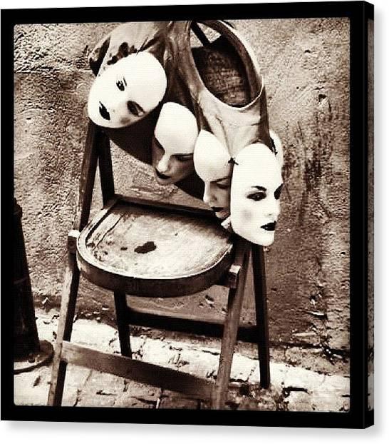 Ocean Animals Canvas Print - Masks In Beyoglu by Yalin Tuna