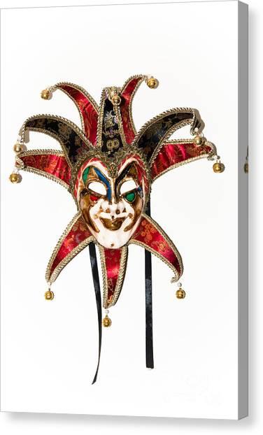 Masquerade Mask.joker Canvas Print