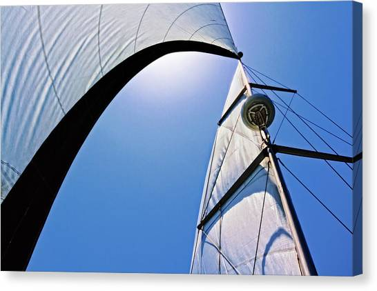 Canvas Print - Mast And Sails by Donna Pagakis