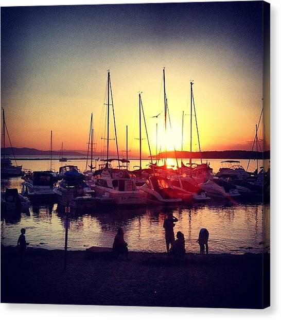 Vermont Canvas Print - Masts At Sunset by Kelly Diamond