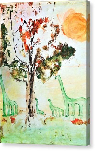 Matei's Dinosaurs Canvas Print