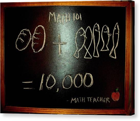 Cornbread Canvas Print - Math 101 by Robert Cunningham