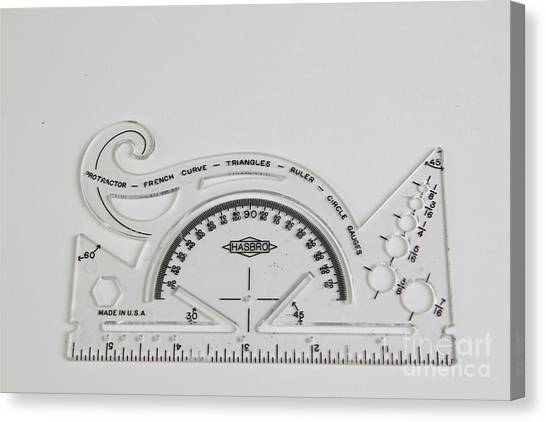 Protractors Canvas Print - Mathematical Instrument by Photo Researchers, Inc.