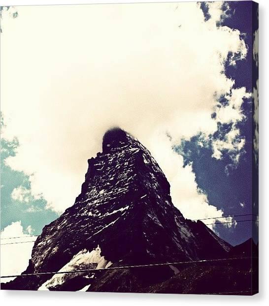 Matterhorn Canvas Print - Matterhorn!! #matterhorn #clouds #sky by Kelsi Doerrer