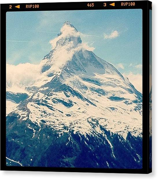 Swiss Canvas Print - Matterhorn by Quique Alicante