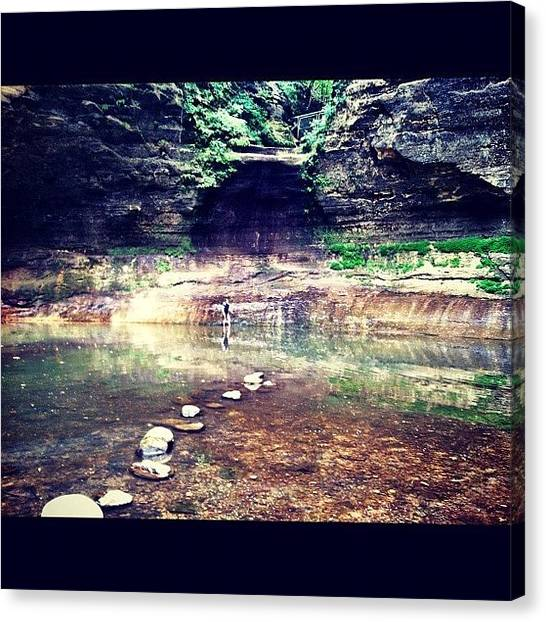 University Of Illinois Canvas Print - #matthiessen #state #park #illinois by Michelle Behnken