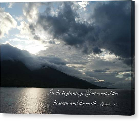 Maui Scripture II Canvas Print by Mike Lytle