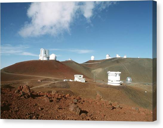 University Of Hawaii Canvas Print - Mauna Kea Telescopes by Magrath Photography
