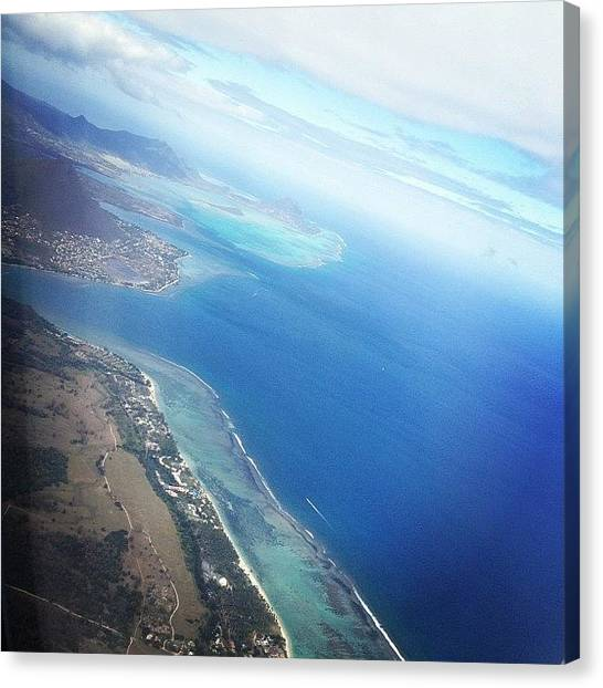 Environment Canvas Print - #mauritius Birds Eye View.  #paradise by Fotocrat Atelier