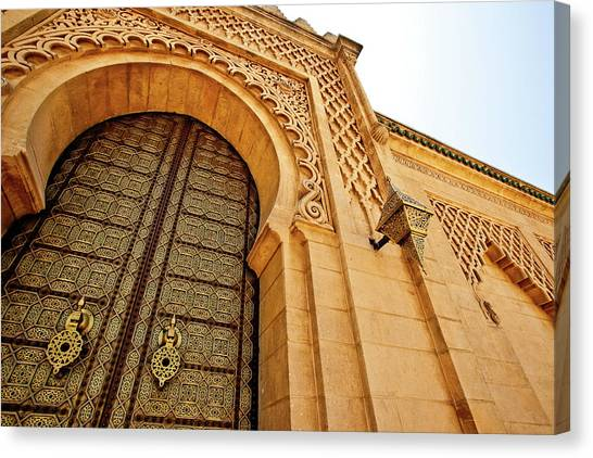 Moroccon Canvas Print - Mausoleum Of Mohammed V by Kelly Cheng Travel Photography