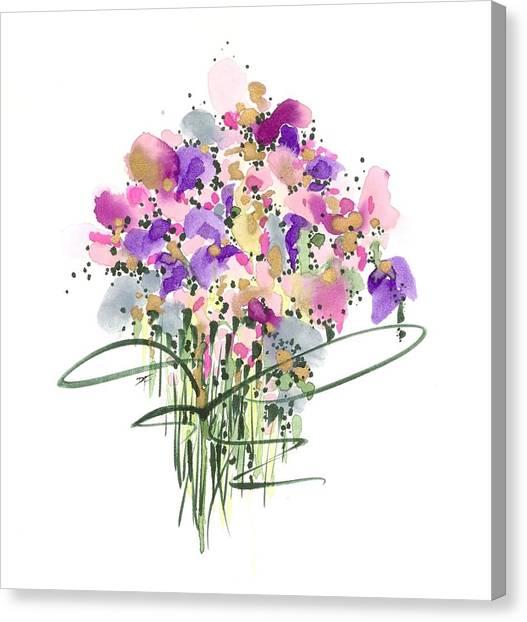 Mauvey Bouquet Canvas Print