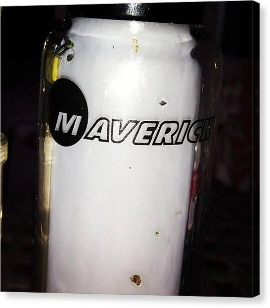 Marijuana Canvas Print - Maverick #maverickglass #logo #milkshot by Alex Santiago