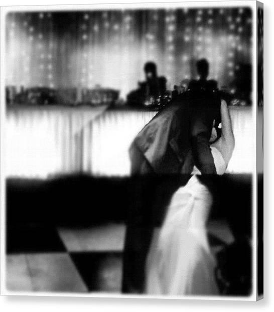 Groom Canvas Print - Mccoys First Dance #love #happy by Luke Fuda