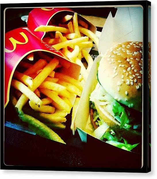Hamburger Canvas Print - Mcdonalds by Ale Romiti 🇮🇹📷👣