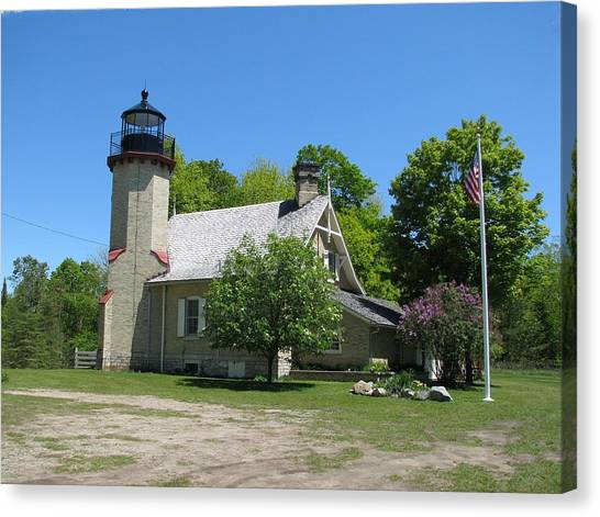 Mcgulpin Point Light After Canvas Print by Keith Stokes