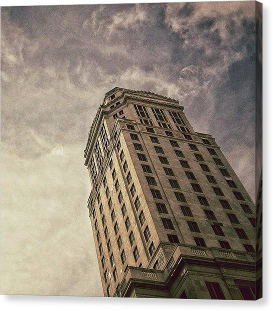 Miami Canvas Print - Mdc Court Tower - Miami by Joel Lopez