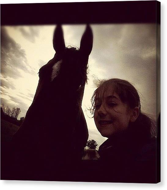Thoroughbreds Canvas Print - Me && Swift💚#adorable #cute by Caitlin Hay
