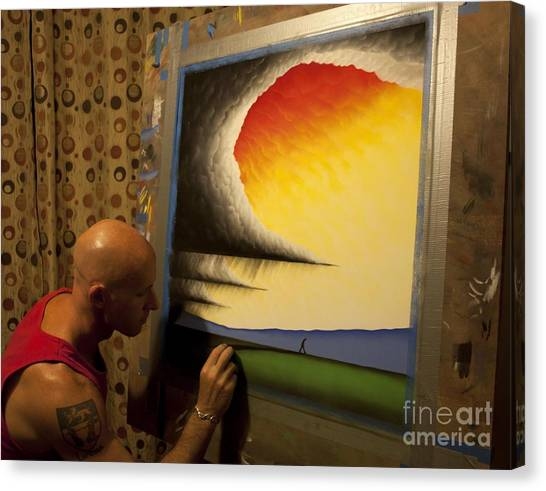 Me Adding The Finishing Touches Canvas Print