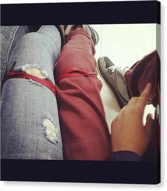 Legs Canvas Print - Me And Justin A While Ago; Tied Our by Kayla St Pierre