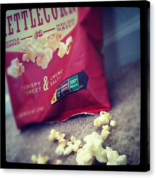 Popcorn Canvas Print - Me #eating Some #kettlecorn From A #red by Akim  Lai-Fang