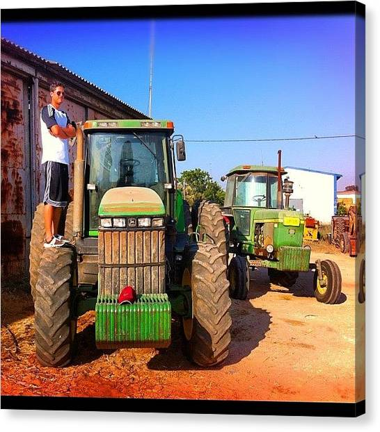 Equipment Canvas Print - #me #myself #i #adidas #nike #tractor by Alon Ben Levy