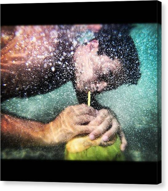 Underwater Canvas Print - #me #myself #i #underwater #sea #brazil by Alon Ben Levy