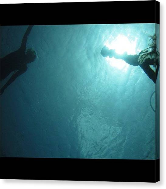 Snorkling Canvas Print - #me #water #sea #snorkling #sun by Nicole Cruz Scherrer