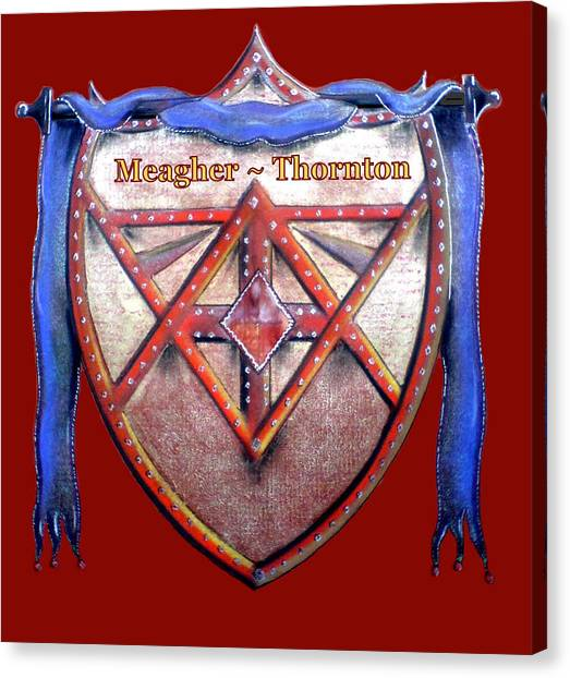 Meagher-thornton Family Crest Canvas Print