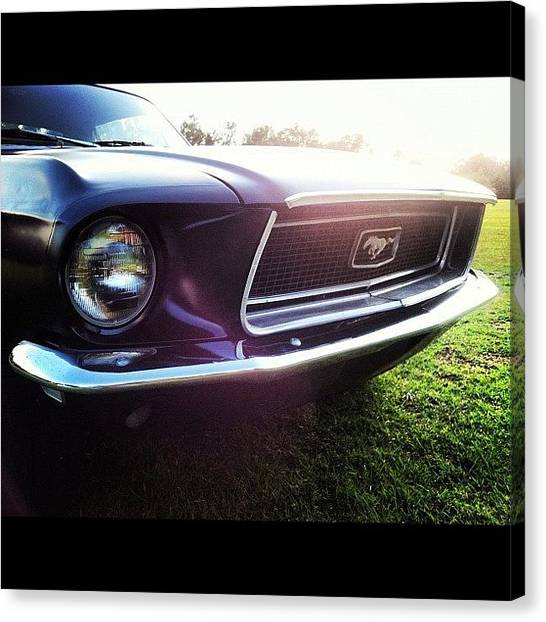 Ford Canvas Print - Mean Machine ... ... ... #mustang by Mark T Ewing