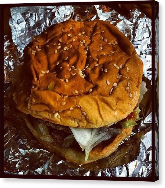 Hamburger Canvas Print - Meat. #hamburger #burger #picoftheday by Craig Kempf