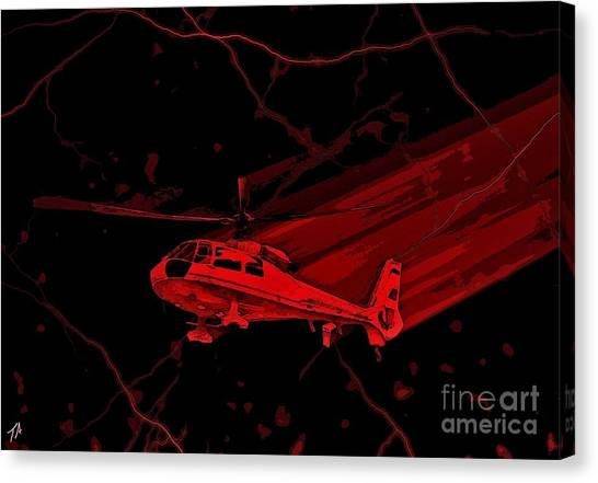 University Of Wisconsin - Madison Canvas Print - Med Flight by Tommy Anderson