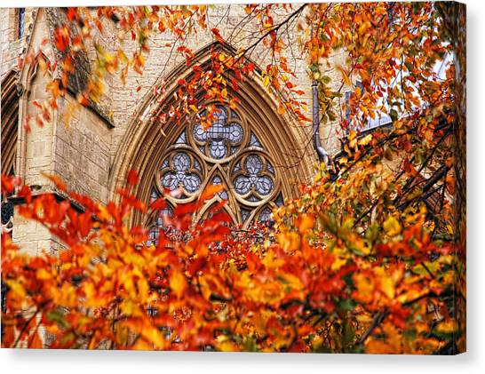 Medieval Firewall Today Canvas Print by Duncan Nelson