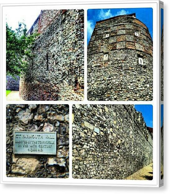 Norfolk Canvas Print - Medieval Town Wall Built 1433 #town by Invisible Man