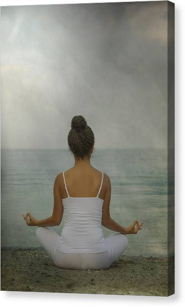 Spaghetti Canvas Print - Meditation by Joana Kruse