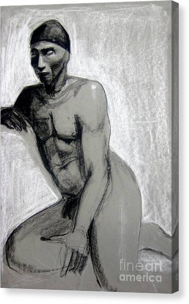 Canvas Print featuring the drawing Meditations by Gabrielle Wilson-Sealy