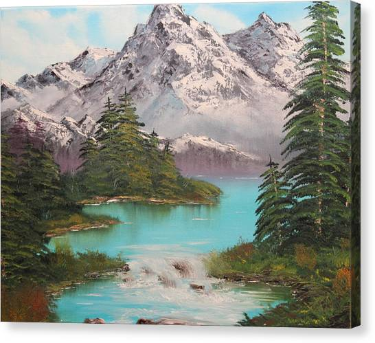 Meet Me At The River Canvas Print