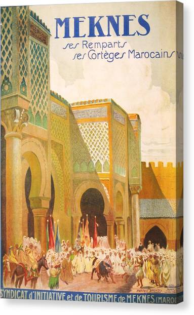 Archeology Canvas Print - Meknes Morocco by Georgia Fowler