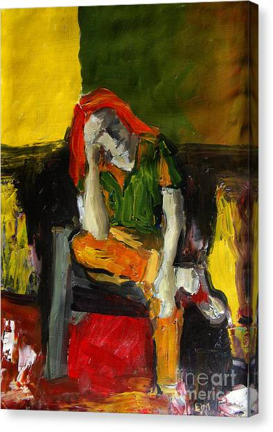 Fauvism Canvas Print - Melancholy by Mona Edulesco