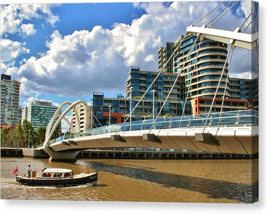Melbourne Australia City Boat Ride Canvas Print