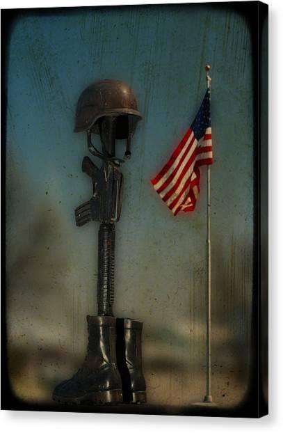 Memorial Canvas Print by Brady D Hebert