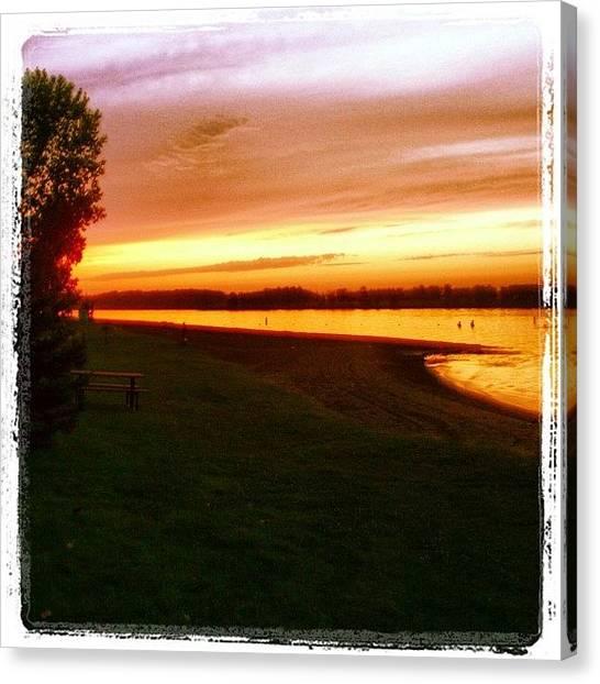 Manitoba Canvas Print - #memories #summer #sunset #night #beach by Lucy Siciliano