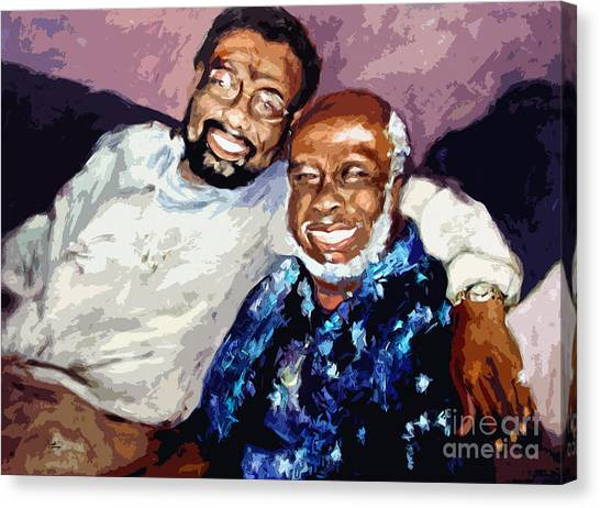 Memphis Soul Music William Bell And Rufus Thomas Canvas Print by Ginette Callaway