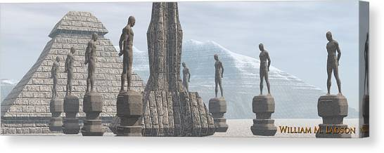 Men Of Stone Canvas Print