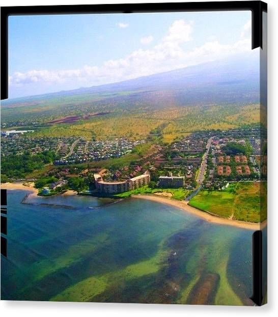Helicopters Canvas Print - Menehune Shores #maui #hawaii #808 by Joel R
