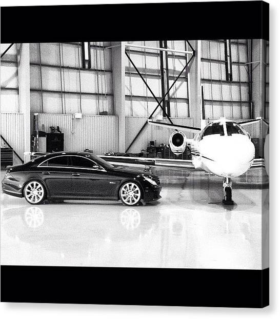 Jets Canvas Print - #mercedes #benz #black #cls63 #amg by Tyler Unruh