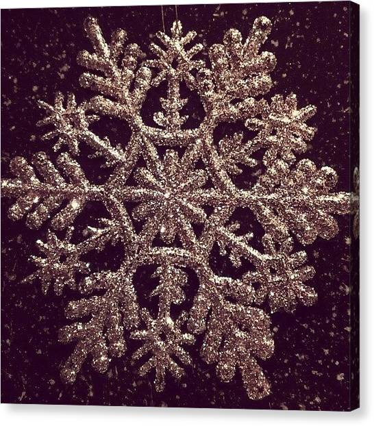 Snowflakes Canvas Print - Merry Christmas #merrychristmas by Arayon Shaw