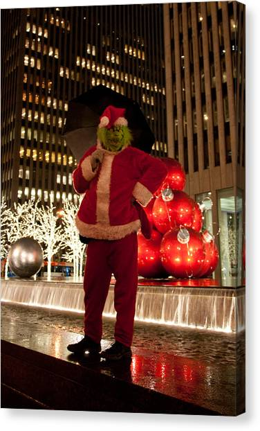 Grinch Canvas Print - Merry Grinchmas by Heidi Reyher