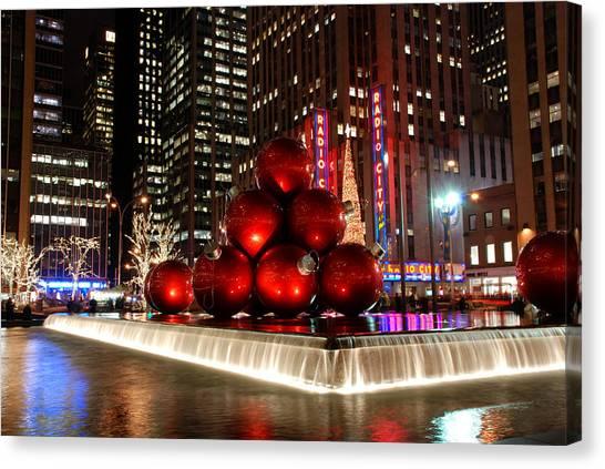 Merry New York City Christmas Canvas Print