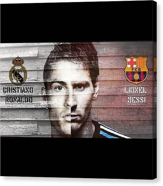 Soccer Players Canvas Print - #messi #cr7 #cristianornaldo #awesome by Josue Pena